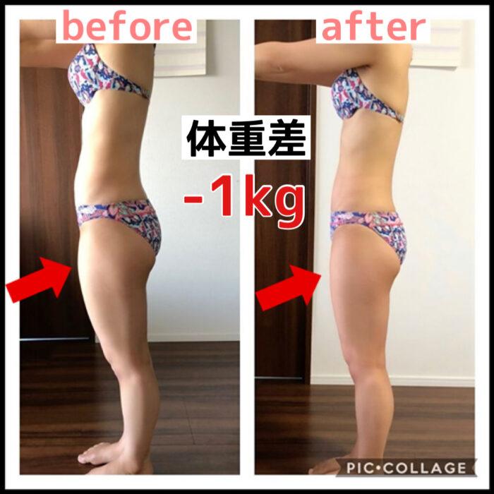 【1ヶ月-1kg】体重の変化はないのに見た目が激変!前ももが痩せた!反り腰が解消